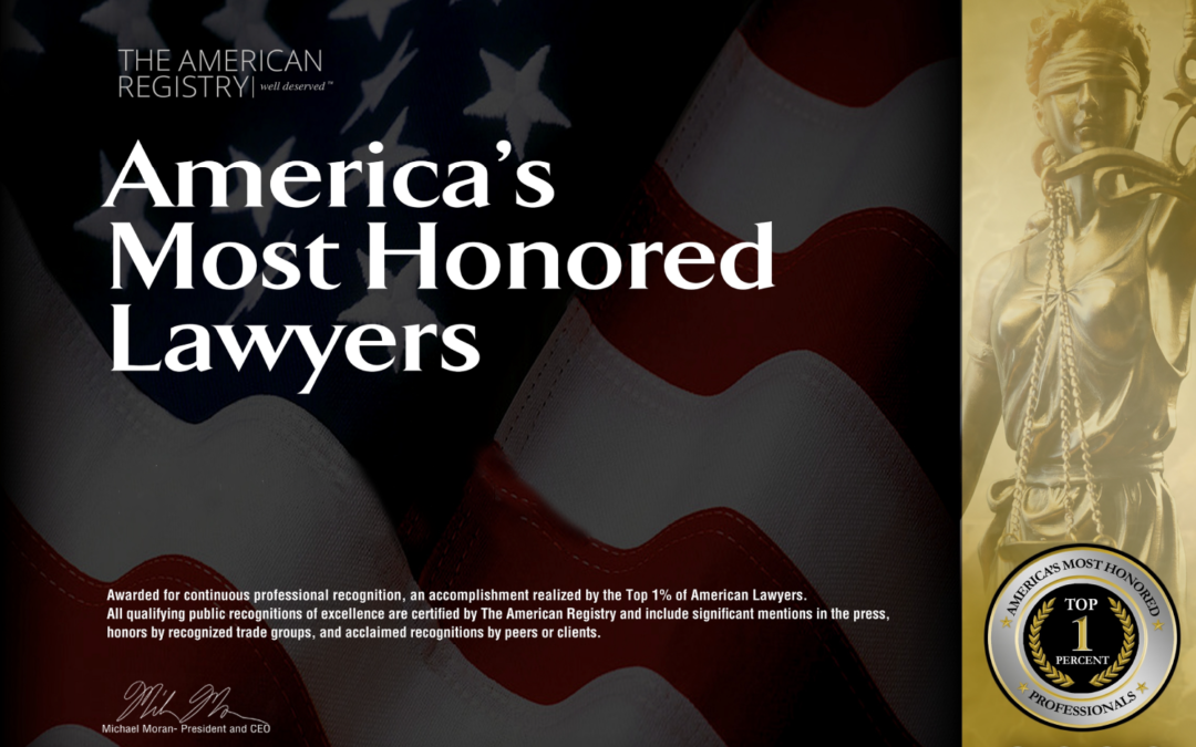 Firm Attorneys Recognized As America's Most Honored Lawyers
